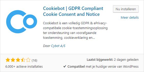 Cookiebot WordPress plugin